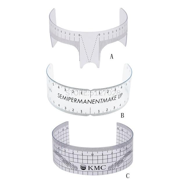 1PC Reusable Semi Permanent Eyebrow Ruler Eye Brow Measure Tool Eyebrow Guide Ruler Microblading Calliper Stencil Makeup Tools 1