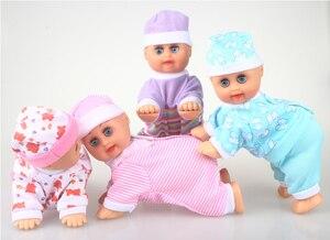 Забавная электрическая музыкальная детская кукла для ползания, милые развивающие игрушки, говорящие куклы, подарок на день рождения, FSOWB