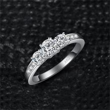 Three Stone CZ Sterling Silver Beautiful Ring for Women