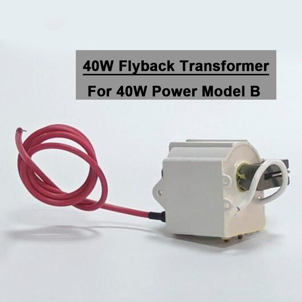 High Voltage Flyback Transformer 40W For CO2 40W Laser Power Supply Model B