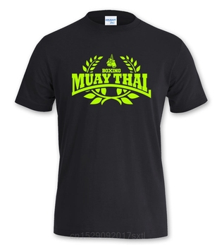 T Shirt Men Funny  Tees Short Sleeve Muay Thai Boxer Hooligan Fighting Sporter Printing Shirt 1