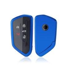 TPU Auto Schlüssel Abdeckung für VW Volkswagen Golf 8 Mk8 2020 Skoda Octavia Smart Keyless Fernbedienung Keychain Fällen