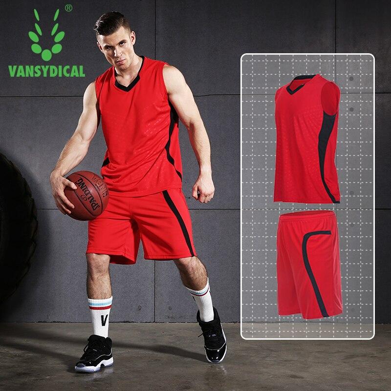 Men Jerseys Basketball Set Basketball Uniforms Sets Sleeveless Shirt Team Training Sport Jerseys Quick Dry Outdoor Clothes