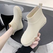 Japan Stil Frau Rain, Frauen Knöchel Gummi boot, Nicht-slip Küche Wasser Schuhe, mark Einkaufen Plattformen Schuh, Galoschen, Dropship