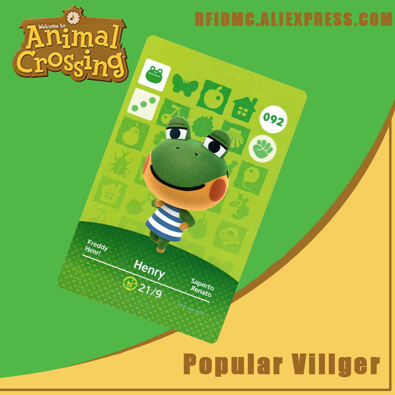 092 Henry Animal Crossing Card Amiibo For New Horizons