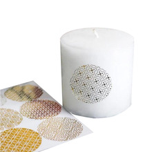 90pcs/lot Gold Round Bronzing Transparent Sealing Stickers Diameter 4cm Pattern Series  candle gift stickers