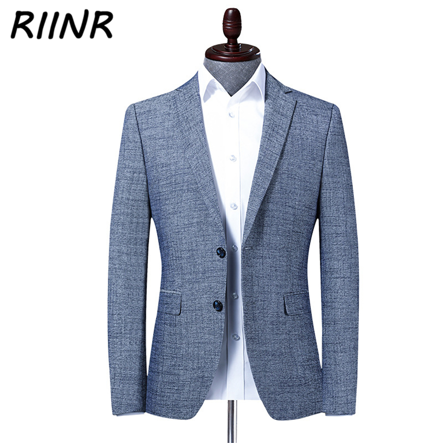 Riinr 2020 Spring Autumn New High Quality Men's Suit Business Casual Clothing Fashion Slim Suit Men Blazer Jacket Male M-4XL