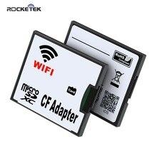 Rocketek Micro SD TF CF/SD Wifi Speicher Kartenleser Konverter Adapter MicroSD SDHC zu Compact Flash Typ ICH