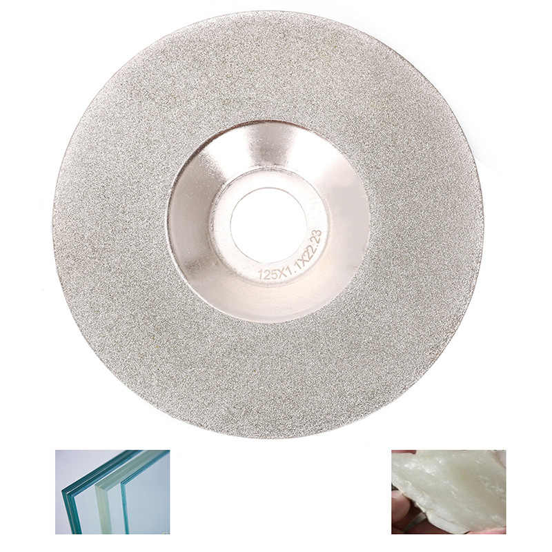 "5 ""125 Mm Dilapisi Diamond Cutting Disc Grinding Wheel untuk Kaca 150 Grit"