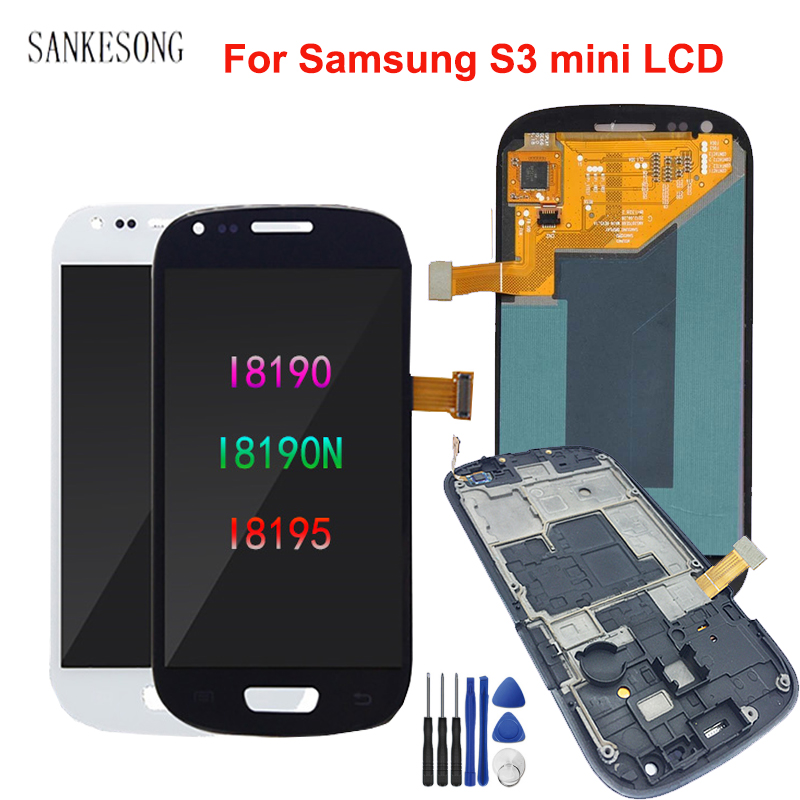 AMOLED <font><b>LCD</b></font> for <font><b>Samsung</b></font> <font><b>Galaxy</b></font> <font><b>S3</b></font> Mini <font><b>LCD</b></font> Display i8190 GT-i8190 i8195 i8200 Touch <font><b>Screen</b></font> Digitizer Assembly Replacement Parts image