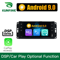 Android 9.0 Octa Core 4GB RAM 64GB ROM Car DVD GPS Multimedia Player Car Stereo for Dodge RAM 1500 Jeep Renegate 2014 2015 Radio
