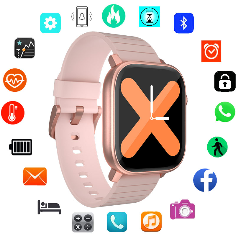 2020 Digital Touch Watches Children Wrist Watch Baby HD Bracelet Watch Grils Boys Fitness Band Teen IP68 Waterproof Heart Rate