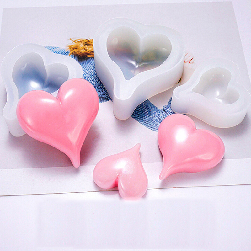 1pc DIY Jewelry Making Tools Mould Handcraft New Love Heart Mold Silicone Epoxy Resin
