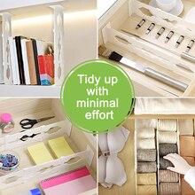 Регулируемый разделитель выдвижных ящиков 6 пакетная лента сильная безопасная фиксация на месте-для спальни ванна шкаф детский стол с ящиками для хранения кухни
