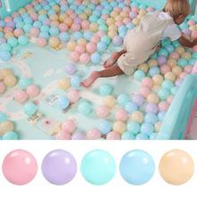 100 pcs/lot Eco-Friendly Colorful Ball Soft Plastic Ocean Funny Baby Kid Swim Pit Toy Water Pool Wave Dia 6.5cm