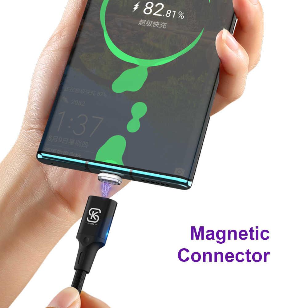 QC 4.0 5A كابلات مغناطيسية 3 في 1 المصغّر usb Type C شحن فائق السرعة لهاتف iphone 3A huawei Mate 30 Pro P20 honor V30 Data 1.2m