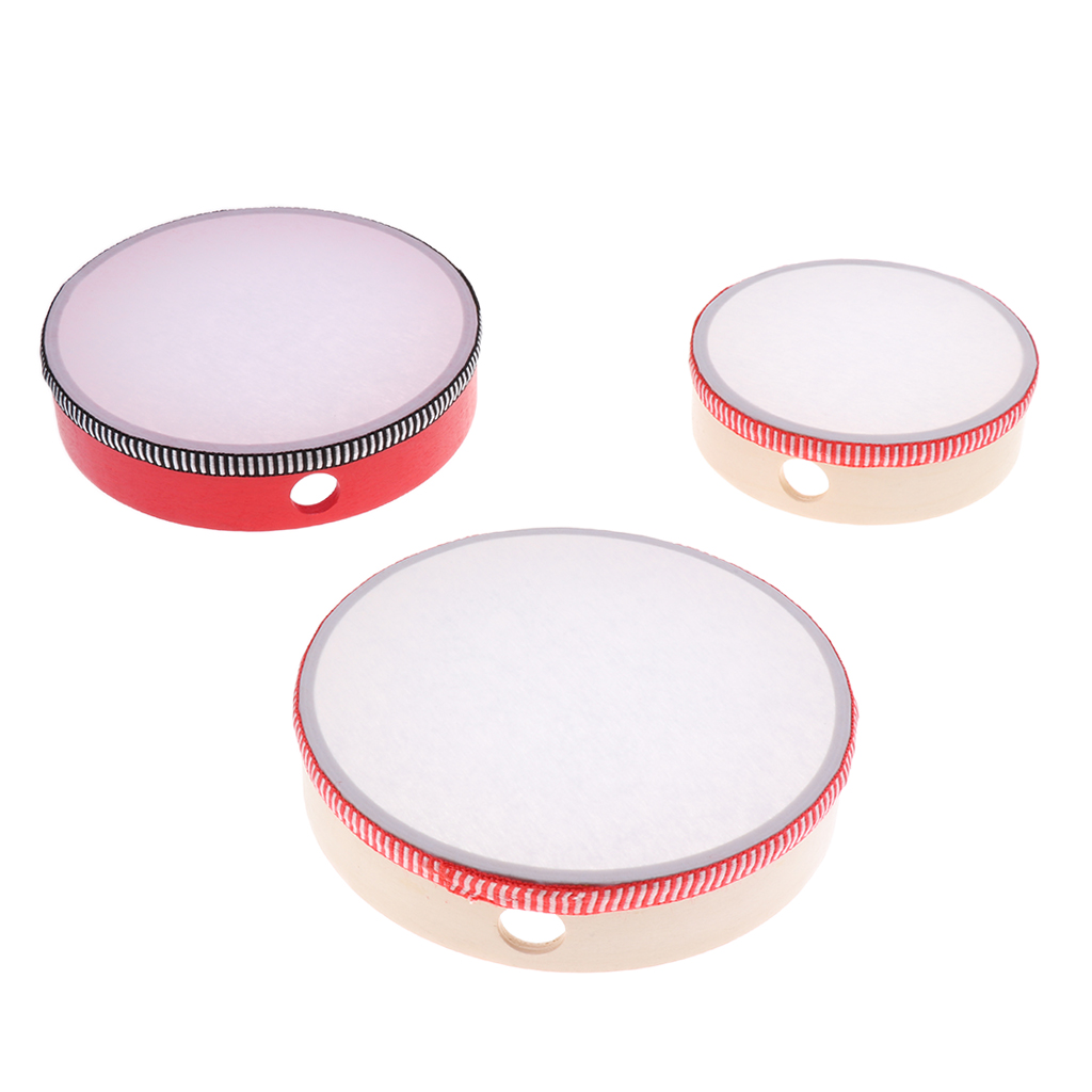 1 Set Hand Percussion Hand Snare Drum with Stick Kids Musical Toys Gift