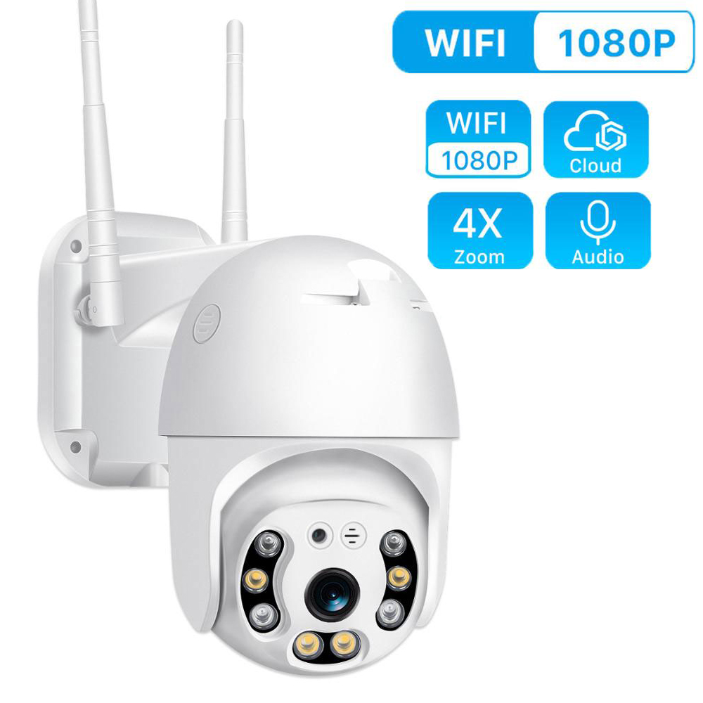 1080P PTZ Security WIFI Camera Outdoor Speed Dome Wireless IP Camera CCTV Pan Tilt 4X Zoom IR Network Surveillance Ip Camara Cam