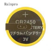 Rainpro 2 Cái/lốc CR2450 3V Với Hàn Chân Nút Pin Lithium Cho Nồi Cơm Điện