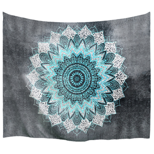 Image 1 - PROCIDA Tapestry Wall Hanging  Art Polyester Fabric Mandala Pattern Theme, Wall Decor for Dorm,Bedroom, Nail included