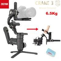 Zhiyun Crane 3S / 3S-E 3-Asix stabilizzatore cardanico palmare 6.5Kg carico massimo per fotocamera digitale rossa per Cinema, fotocamera reflex PTZ