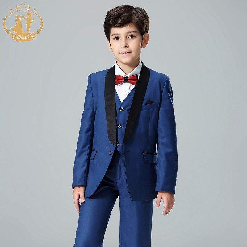 Nimble blue suit for boy costume enfant garcon mariage kids wedding suit blazer boys suits for weddings boys tuxedo 3pcs/set|Suits|   - title=