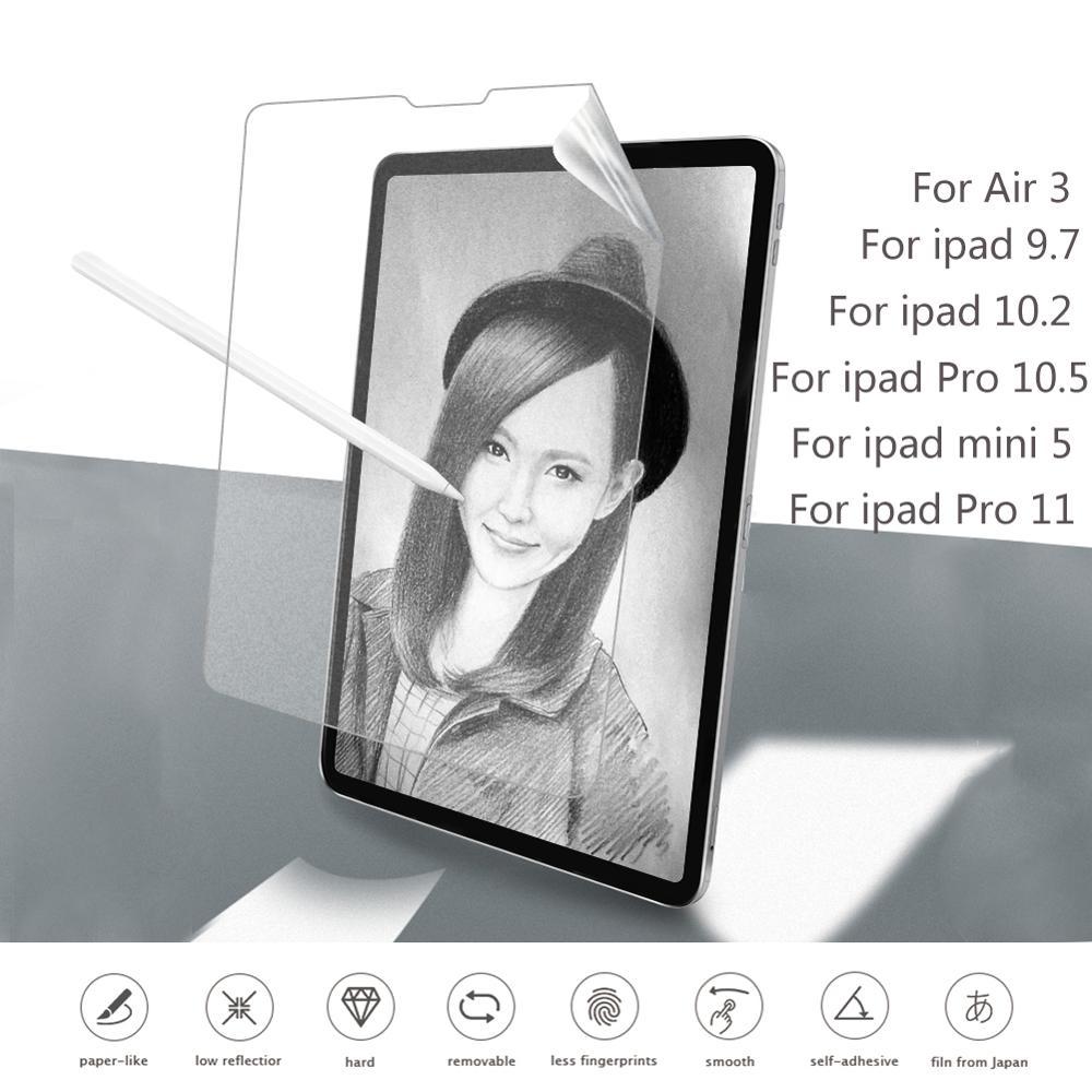 Paper Like Screen Protector Film Matte Anti Glare Painting For Apple IPad 9.7 Pro 10.5 Mini 5 New 10.2 Inch 2019 Soft Film