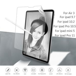 Paper Like Screen Protector Film Matte Anti Glare Painting For Apple iPad 9.7 Pro 10.5 mini 5 New 10.2 inch 2019 soft film|Tablet Screen Protectors|   -