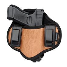 Kosibate ציד נרתיק עור מפוצל הסתיר עבור אקדח אקדח גלוק 17 19 23 32 sig Sauer P250 P224 ברטה 92 מזל שור פנקייק IWB