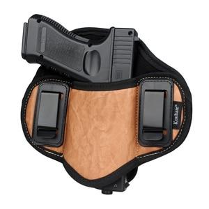Image 1 - Kosibate Jacht Holster Pu Lederen Verborgen Voor Pistool Glock 17 19 23 32 Sig Sauer P250 P224 Beretta 92 taurus Pannenkoek Iwb