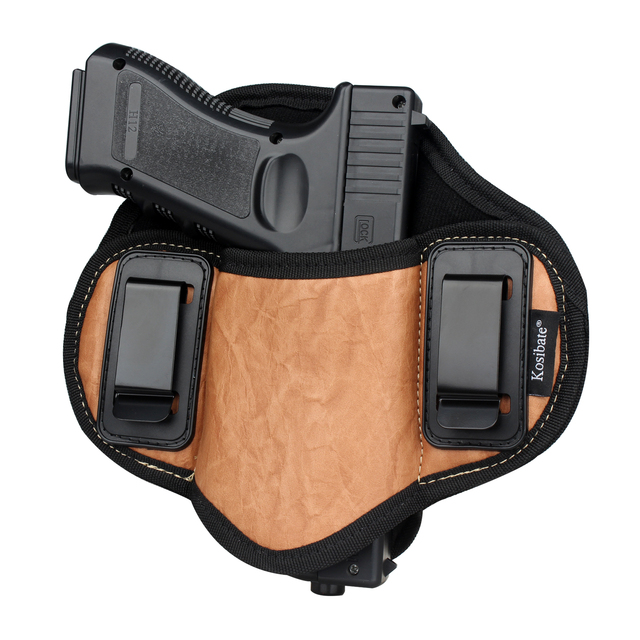 Kosibate Jacht Holster Pu Lederen Verborgen Voor Pistool Glock 17 19 23 32 Sig Sauer P250 P224 Beretta 92 taurus Pannenkoek Iwb