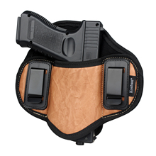 Kosibate狩猟ホルスターpuレザー隠さため銃ピストルグロック 17 19 23 32 sigザウアーP250 P224 ベレッタ 92 牡牛座パンケーキiwb