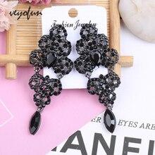 цена на Veyofun Vintage Rhinestone Dangle Earrings Hollow out Drop Earrings Fashion Jewelry for Women
