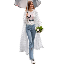 2019 New Hooded Cloak Women Lace Fringed Loose Cardigan Long Sleeve V-neck Women Clothes  Womens Capes and Ponchos Cloak Hood stylish jewel neck long sleeve fringed loose fitting sweatshirt for women