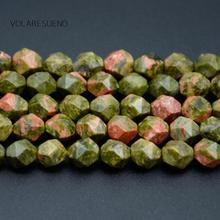 Natural Faceted Unakite Stone Round Loose Beads For Jewelry Making 6-10mm Spacer Fit Diy Bracelets Necklace Accessory 15
