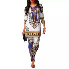 Dresses African Robe Dashiki-Print Plus-Size Women MD 5XL for Top-Pants Suit Legging