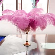 Piume di struzzo naturali rosa all'ingrosso 45-70cm/18-28 pollici accessori per la decorazione del pennacchio per artigianato di decorazioni di piume di nozze di carnevale