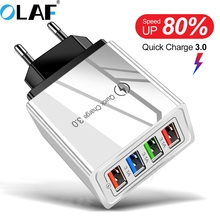 OLAF 4 Ports Quick Charge 3.0 4.0 For Phone Adapter For Samsung S10 iPhone 11 Tablet Xiaomi Wall