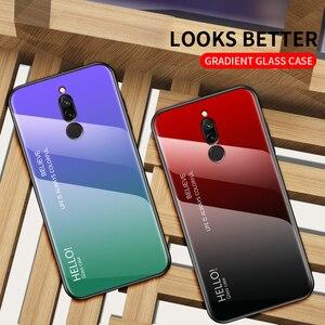 Image 5 - Voor Xiao mi rode Mi note 5 6 pro 6A 7 CASE gradiënt Gehard Glas Cover Voor Xiao Mi Mi 8 A2 Lite A1 9 mi 8 mi 6 mi 9 pocophone F1 case