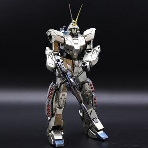 Image 4 - Bandai Mg 1/100 Metalen Plating Kleur RX 0 Volledige Armor Eenhoorn Gundam Kaka 20 Cm Monteren Actie Toy Figures Kinderen geschenken