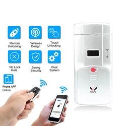 WAFU 011B Home inteligentna elektroniczna blokada zdalna mobilna obsługa przez aplikację w telefonie odblokuj bez dziurki od klucza instalacja wewnętrzna blokada bezpieczeństwa