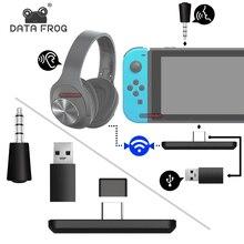 Dữ Liệu Ếch Loại C/USB Di Động Hỗ Trợ Bluetooth Adapter Dành Cho Máy Nintendo Switch/PS4/Máy Tính Thiết Bị Thu Âm Thanh bộ Chuyển Đổi Tai Nghe Thiết Bị Phát