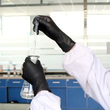 20pcs/lot Nitrile Gloves Black Food Grade Waterproof Allergy Free Medical Disposable Work Safety Gloves Nitrile Gloves Mechanic