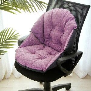 Image 5 - Étudiant lin tapisserie dameublement épais chaud siège coussin bureau taille coussin ordinateur chaise coussin
