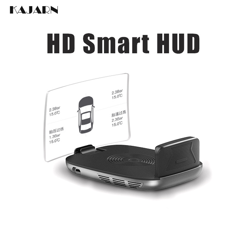 KAJARN HUD OBD2 Car Accessories Projector GPS Navigation TPMS Car Alarm Vehicle Monitoring Universal Car Hud Tire Pressure Senso