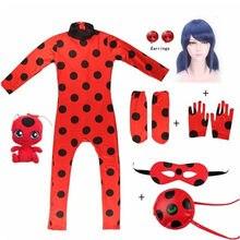 Combinaison masque de chat noir pour enfants, sac de masque, Cosplay, rouge, Tikki Plagg, Costume de carnaval, Halloween, fête d'anniversaire, nouvelle collection 2021