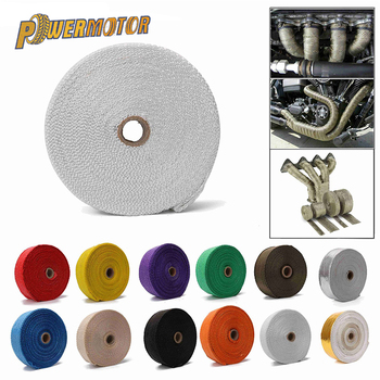 Motorcycle Exhaust 5cm*5m Exhaust Heat Incombustible Turbo Manifold Thermal Exhaust Tape Mainfold Heat Insulation Cloth Roll