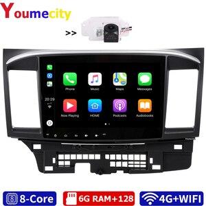 Image 1 - 6G RAM/שמונה Core/אנדרואיד 10.0 מולטימדיה לרכב נגן DVD Gps עבור מיצובישי לנסר 2007 2018 9 x עם DSP Carplay IPS רדיו BT