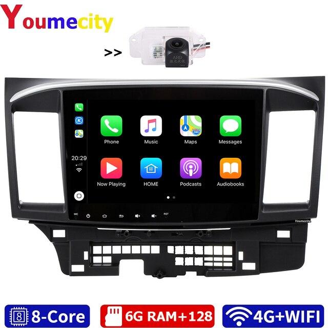 6G RAM/שמונה Core/אנדרואיד 10.0 מולטימדיה לרכב נגן DVD Gps עבור מיצובישי לנסר 2007 2018 9 x עם DSP Carplay IPS רדיו BT