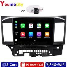 Radio Multimedia con Gps para coche, Radio con reproductor DVD, navegador, Android 10,0, 6 GB RAM, ocho núcleos, DSP, Carplay, IPS, BT, para MITSUBISHI LANCER 2003 2012